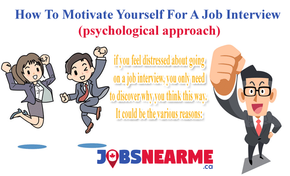 How To Motivate Yourself For A Job Interview Jobs Near Me