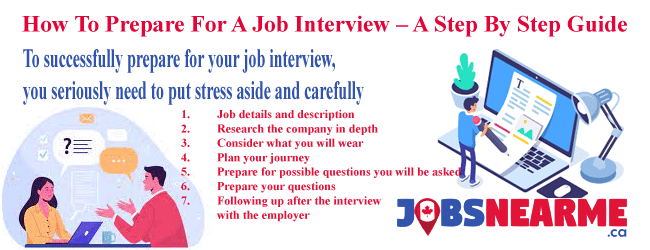 How To Prepare For A Job Interview - A Step By Step Guide Jobs Near Me