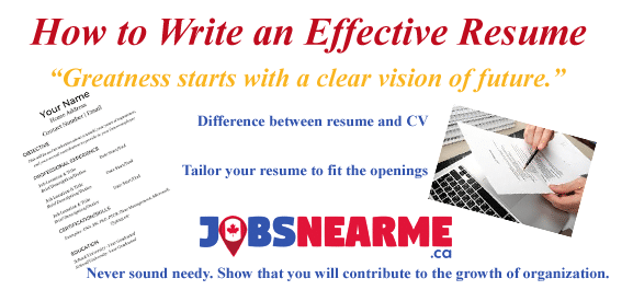 how to write an effective resume jobs near me