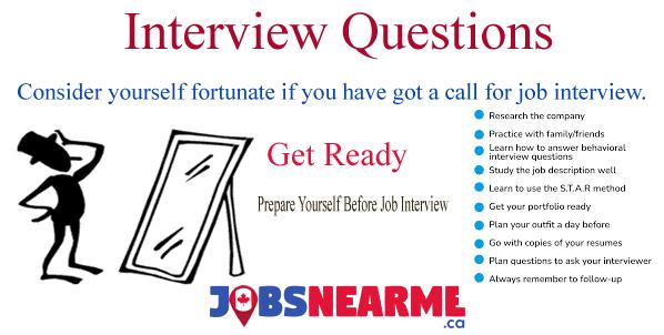 Interview Questions Jobs Near Me