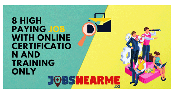 High paying job with online certification and training JobsNearMe